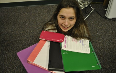 Cara Giron (12) stresses over all of her homework