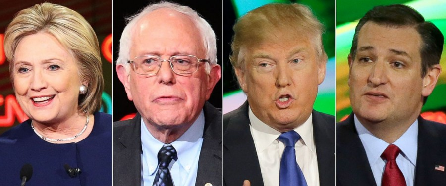 The two frontrunners from each party.