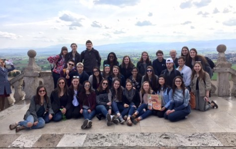 The students and teachers in Assisi, Italy.