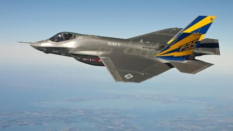 An F-35 test aircraft flying over the Arizona desert (U.S. Air Force)
