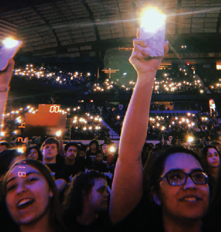 Students attend WE Day's activism event
