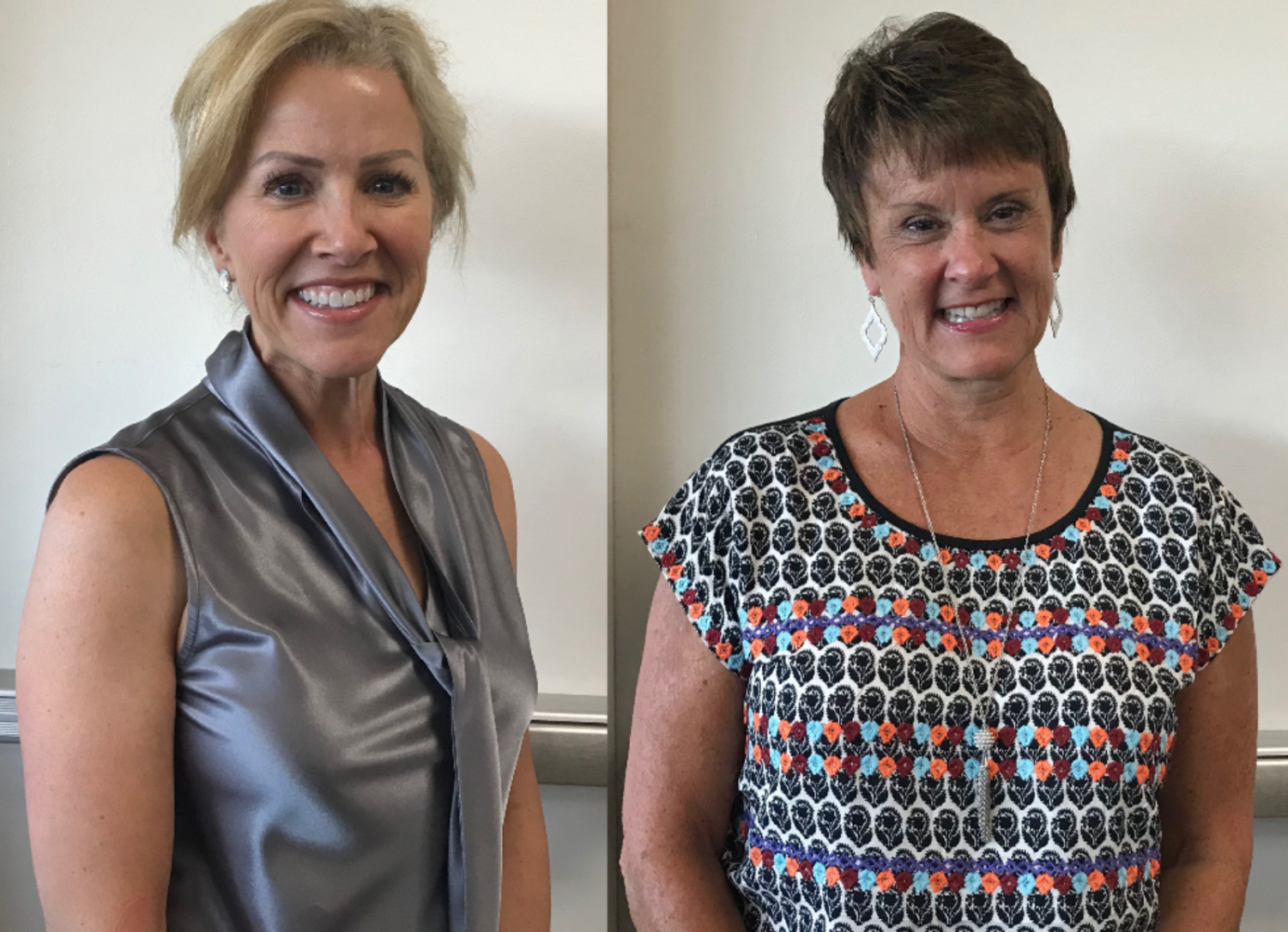 Board Members Lisa Hessel (left) and Casey Rooney (right) joined the Board of Education this year.