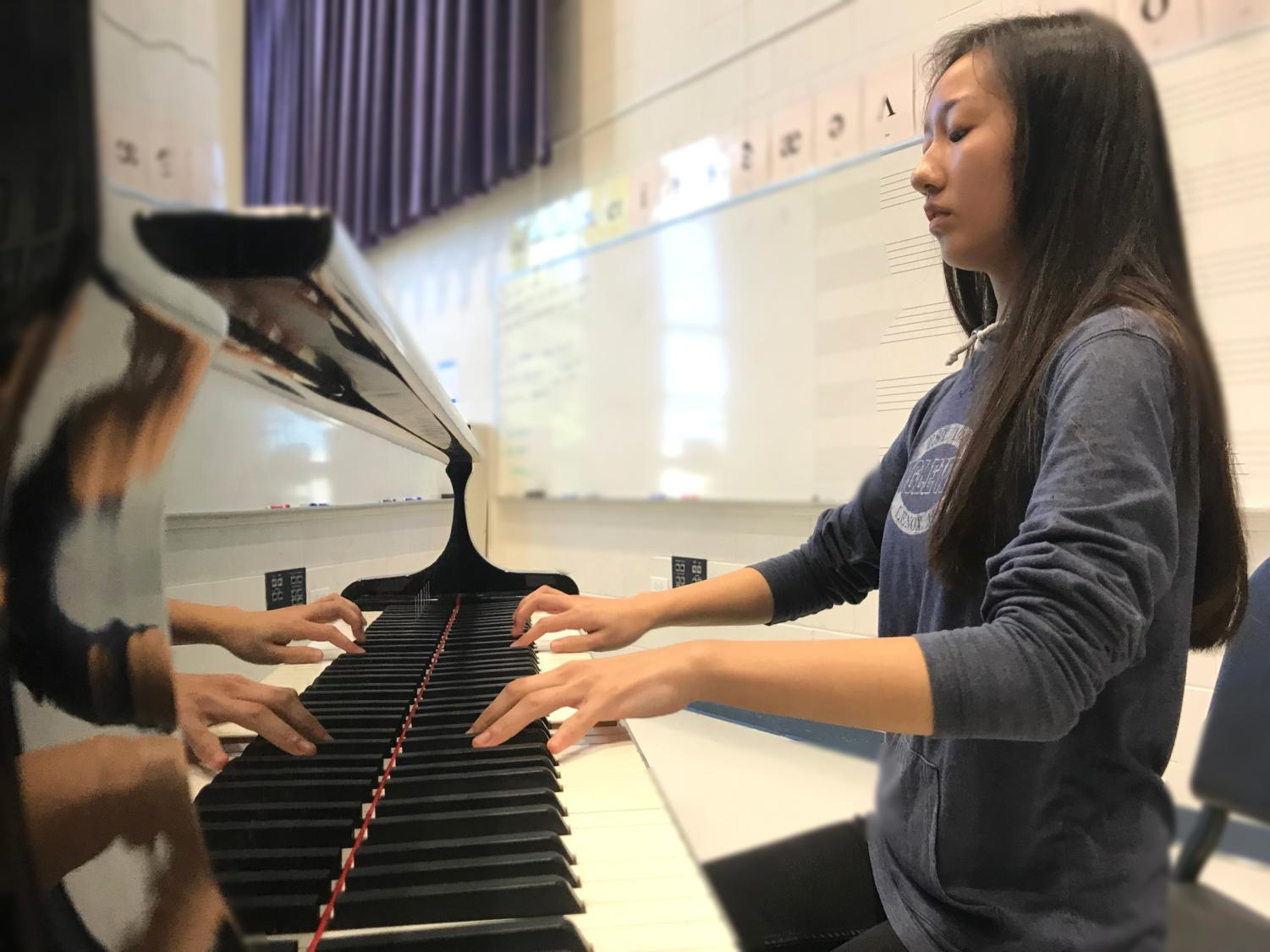 Alice Zhang (12) has a passion for piano and recently played for the Turkish Consulate General.