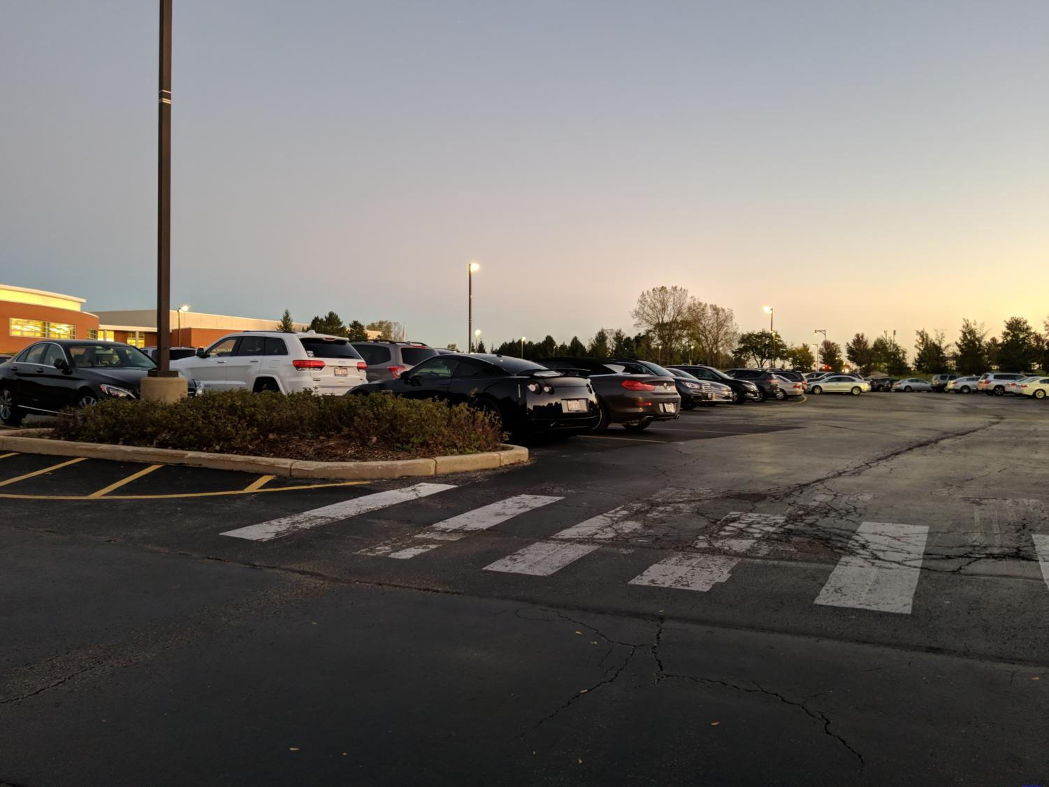 Close spaces and student driving habits cause frustration in VHHS parking lots.