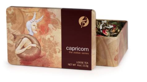 """A tin of loose leaf tea titled """"Capricorn"""""""