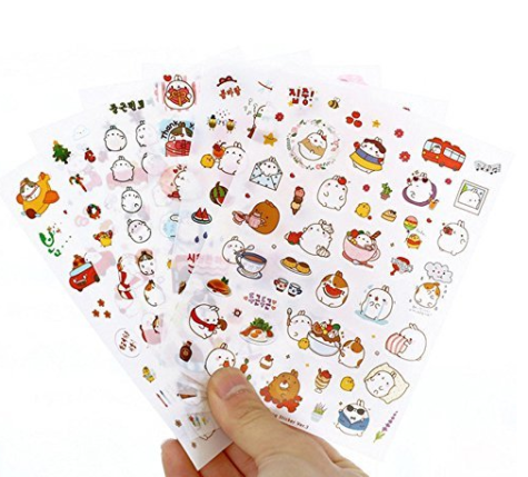 Four sheets of various stickers