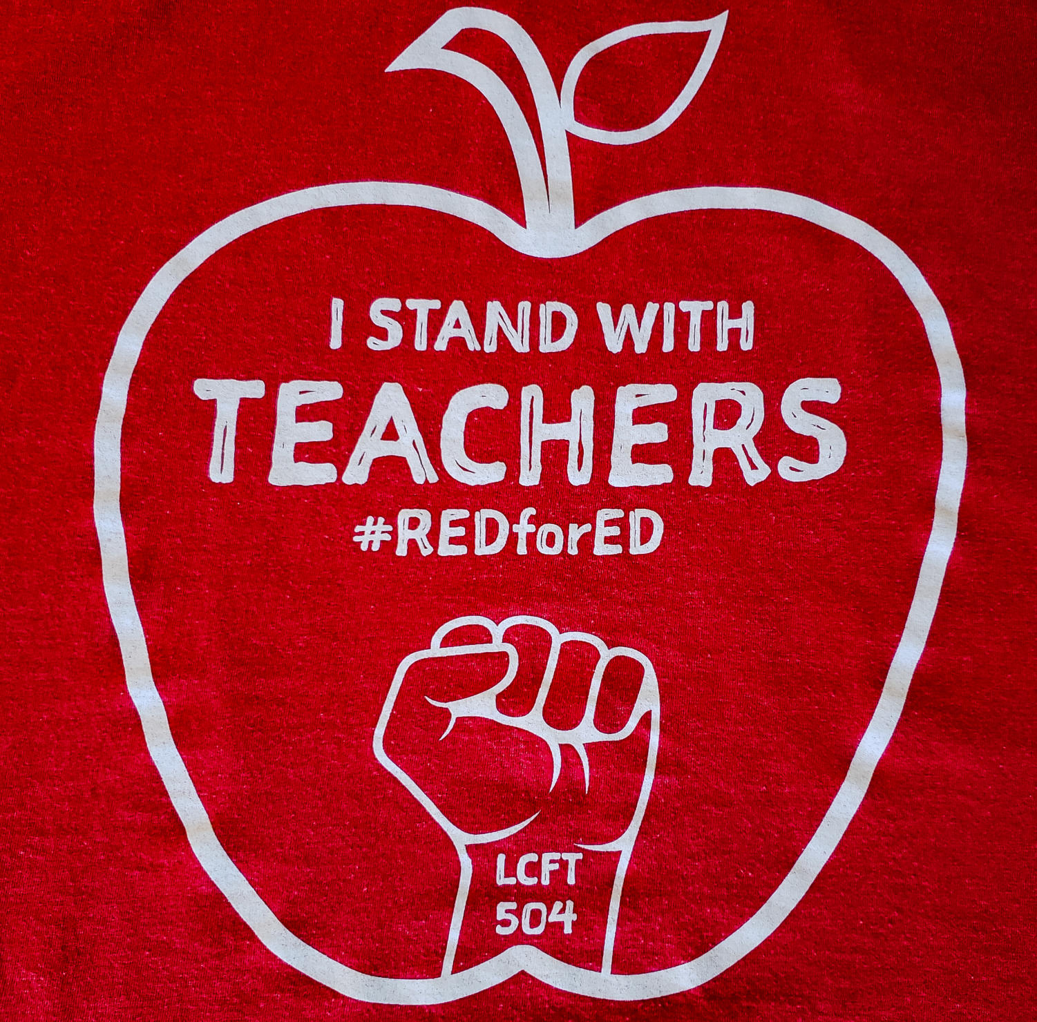On negotiation days, teachers wear shirts with this logo. Picture taken by Charlie Newman