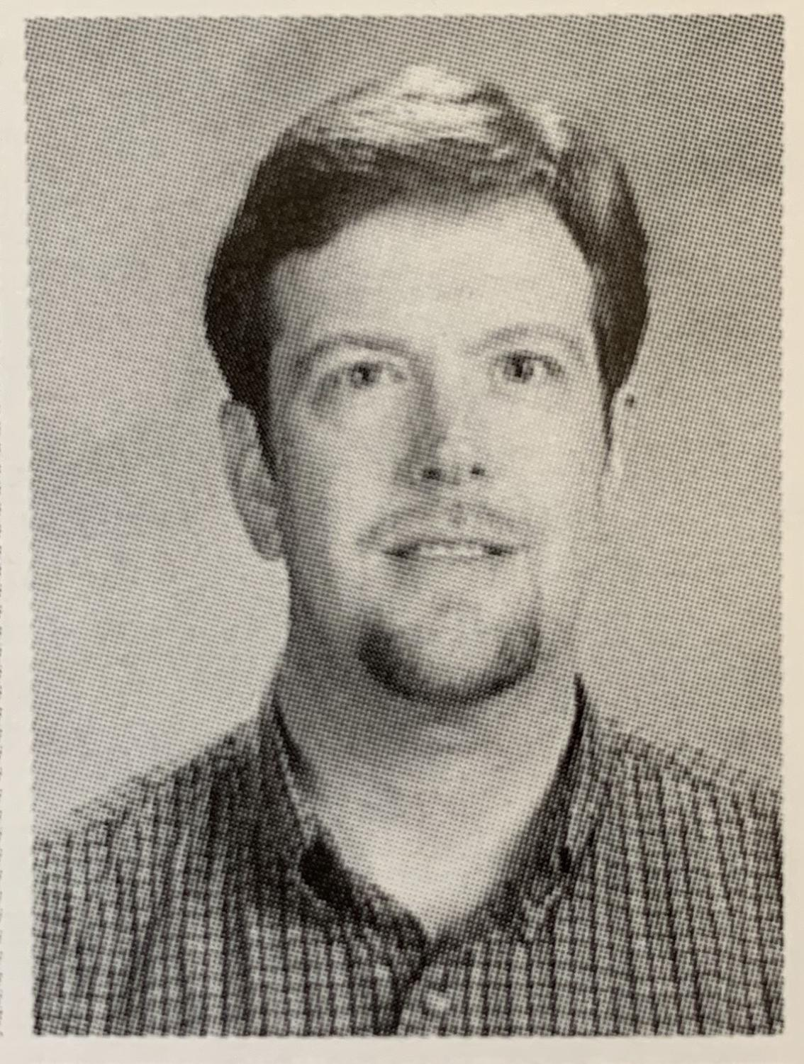 Picture of Mr. Bomgaars from the 2001 VHHS yearbook.
