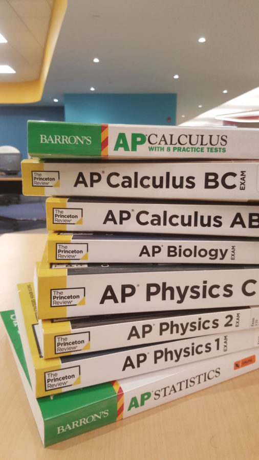 Picture of AP prep books