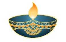 An illustration representing the holiday Diwali