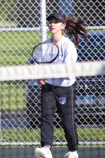 Claudia aces it on the court
