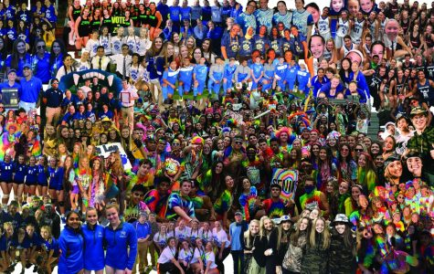 A collage of multiple senior groups and teams of the 2020 senior class