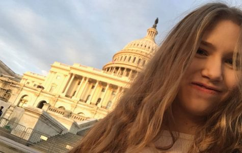 Katie Hoffman is pictured on a journalism trip to DC.