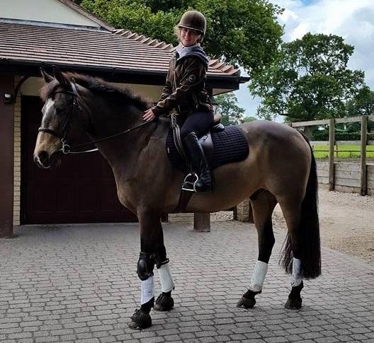 Keira on Tsar, an English stallion