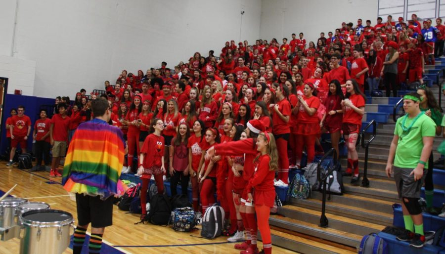 The+freshman+class+is+the+only+grade+to+fill+their+entire+section+of+the+bleachers+during+Color+Wars.