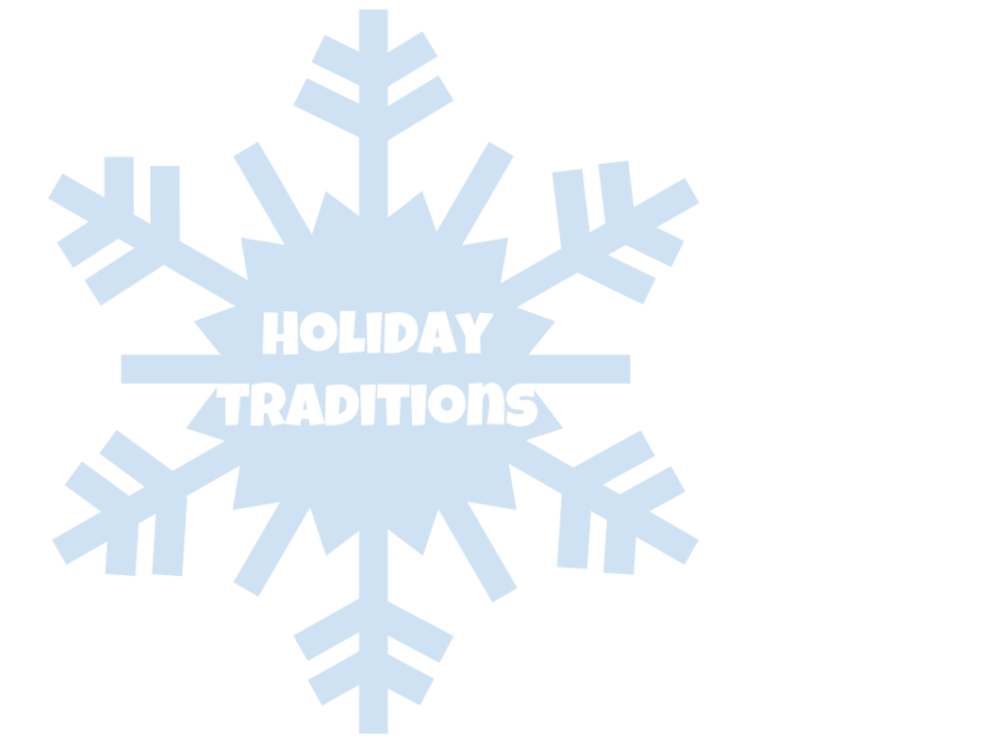 This+image+shows+a+light+blue+snowflake+with+Holiday+Traditions+written+in+the+middle+in+white+text.