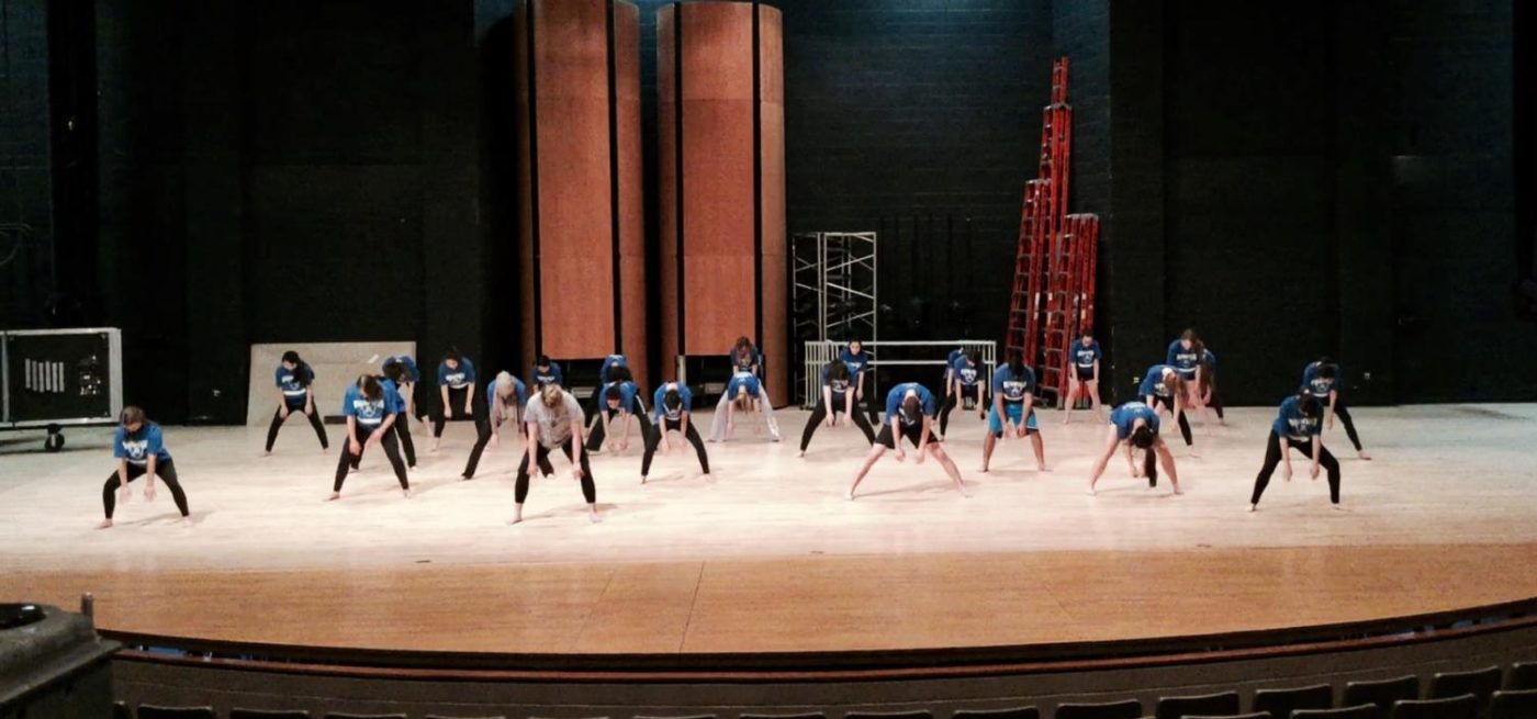 Students in Dance 1, who currently cannot exempt from PE, rehearse on Feb. 1.