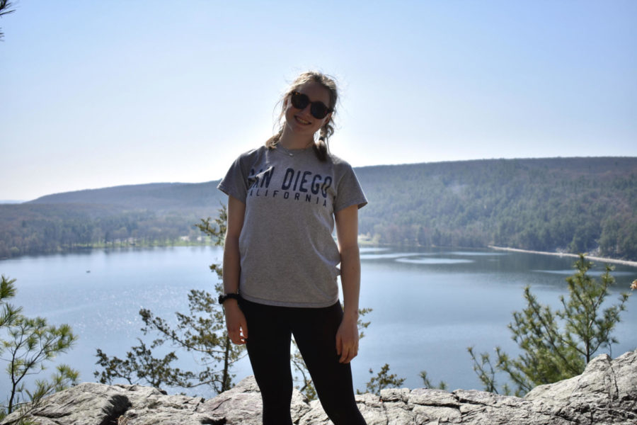 Picture of Abby Hommer, taken at Devils Lake.