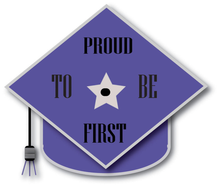 An illustration of a graduation cap with the words