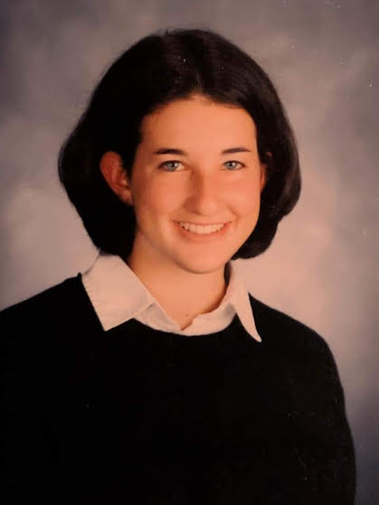 This is a photo of Megan Geltner in high school.