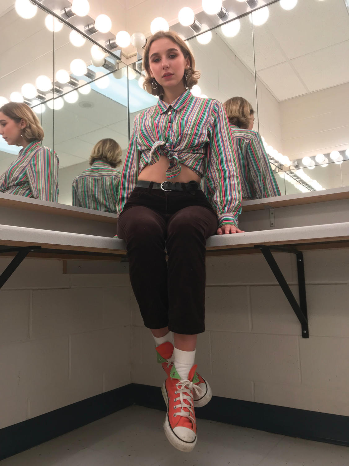 Jayne Cronin (12) poses for a photoshoot in her outfit.