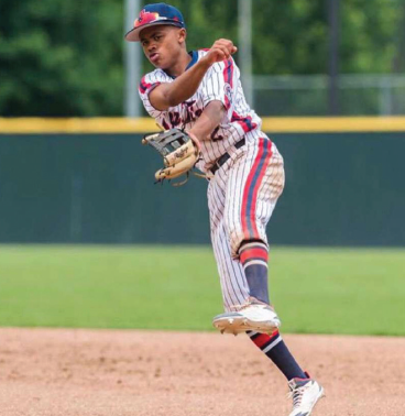 This is a photo of Tony Brown playing baseball.