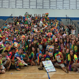 This is a photo of the senior class at color competition.