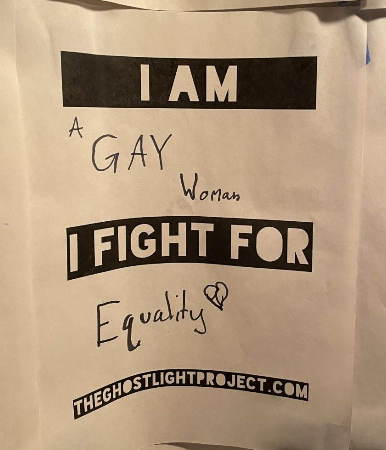 Students express their identity and what they fight for as a part of the Ghostlight project.