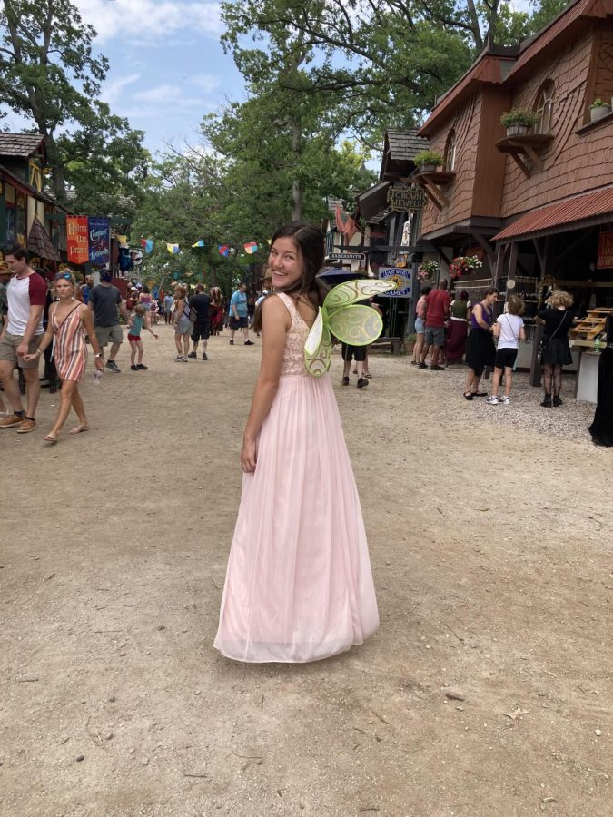 Chloe dressed as a fairy at the Bristol Renaissance fair over the summer.